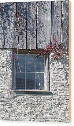 Barn Window Wood Print by Sheila Byers