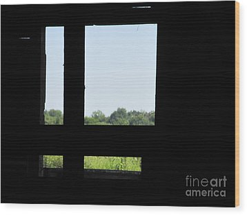Wood Print featuring the photograph Barn Window by Tina M Wenger