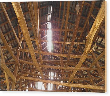 Wood Print featuring the photograph Barn With A Skylight by Nick Kirby