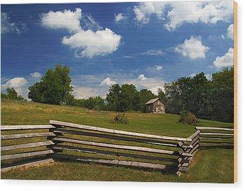Wood Print featuring the photograph Barne Emerson Cabin by Chuck De La Rosa