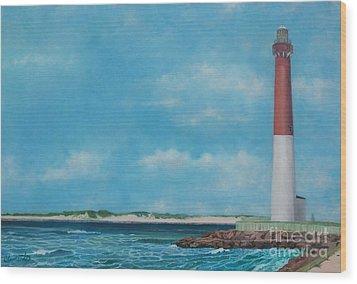 Barnegat Bay Lighthouse Wood Print