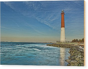 Wood Print featuring the photograph Barnegat Lighthouse - Lbi by Lee Dos Santos
