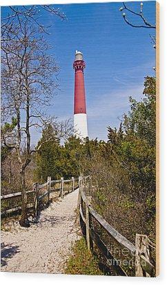Barnegat Lighthouse II Wood Print by Anthony Sacco
