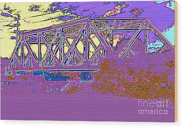 Barnes Ave Erie Canal Bridge Wood Print by Peter Gumaer Ogden