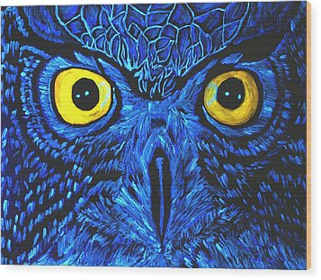 Wood Print featuring the painting Barney Black Light View by Lisa Brandel
