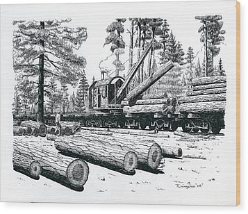 Barnhart Log Loader Wood Print