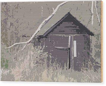 Barns #4 Wood Print by Glenn Cuddihy