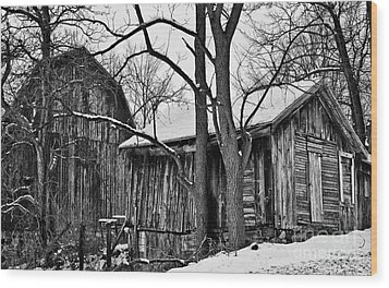 Wood Print featuring the photograph Barns by JRP Photography