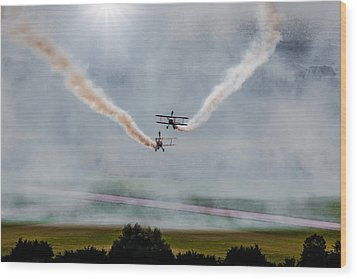 Wood Print featuring the photograph Barnstormer Late Afternoon Smoking Session by Chris Lord