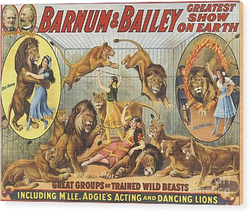 Barnum & Bailey�s  1915 1910s Usa Wood Print by The Advertising Archives