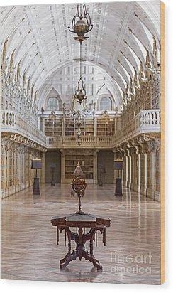 Baroque Library  Wood Print by Jose Elias - Sofia Pereira