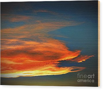 Barracuda Cloud Wood Print by Phyllis Kaltenbach
