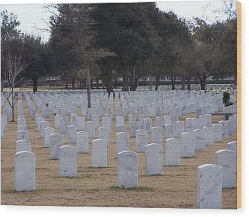 Wood Print featuring the photograph Barrancas National Cemetery by Michele Kaiser