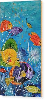 Barrier Reef Fish Wood Print by Lyn Olsen