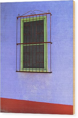 Barrio Historico Wood Print by Brenda Pressnall