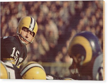Bart Starr Looks  Wood Print by Retro Images Archive