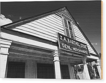 Barthel Store Wood Print by Scott Pellegrin