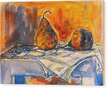 Bartlett Pears Wood Print by Kendall Kessler