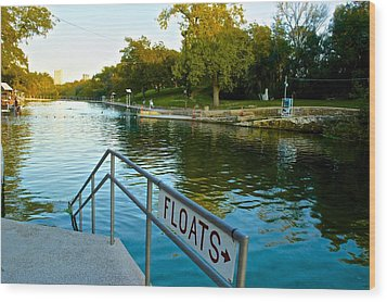 Barton Springs Pool In Austin Texas Wood Print