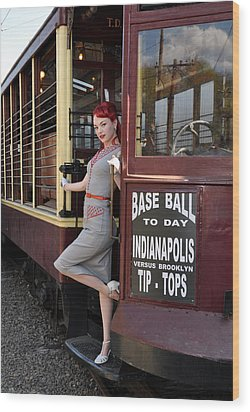 Base Ball To Day Color Version Wood Print by Jim Poulos