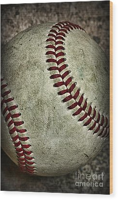 Baseball - A Retired Ball Wood Print by Paul Ward