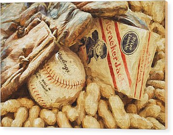 Baseball Fundamentals Wood Print