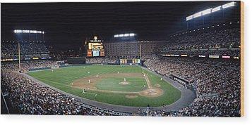 Baseball Game Camden Yards Baltimore Md Wood Print