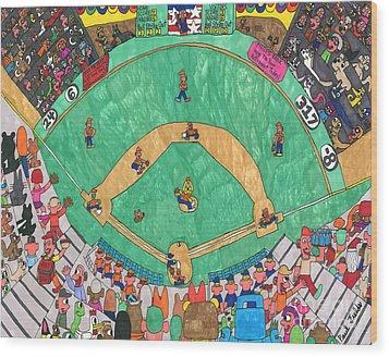 Baseball Wood Print