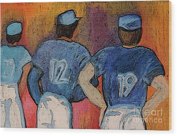 Baseball Team By Jrr  Wood Print by First Star Art