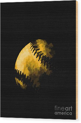 Baseball The American Pastime Wood Print by Edward Fielding