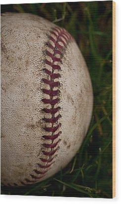 Baseball - The National Pastime Wood Print by David Patterson