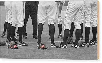 Baseball Wood Print by Thomas Fouch
