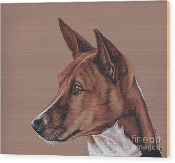 Basenji Wood Print by Charlotte Yealey