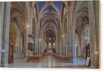 Basilica Di Santa Maria Sopra Minerva Wood Print