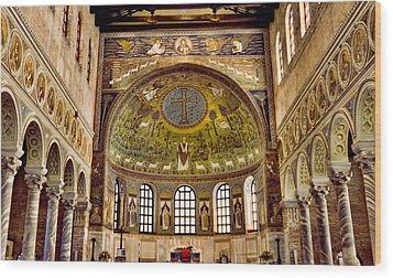 Basilica Di Sant'apollinare Nuovo - Ravenna Italy Wood Print by Jon Berghoff