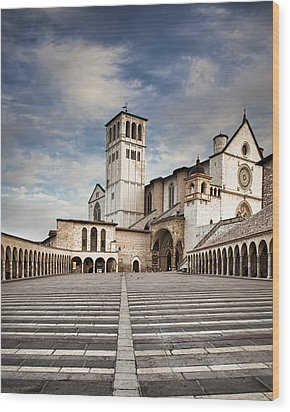 Basillica Of St Francis Of Assisi In Italy Wood Print