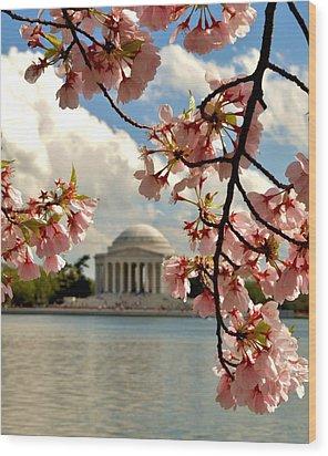 Basin Blossoms Wood Print by William Bartholomew