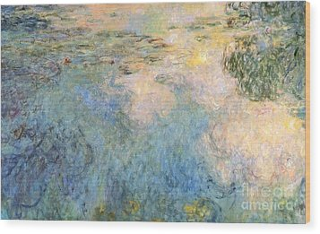 Basin Of Water Lilies Wood Print by Claude Monet