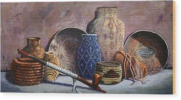 Basket Collection Wood Print