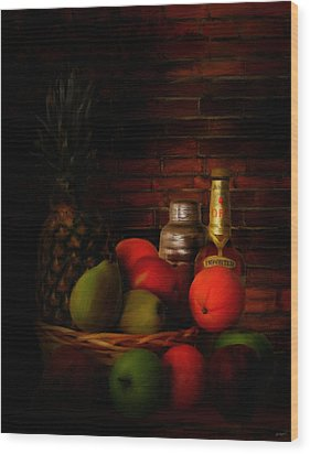 Basket Of Colors Wood Print by Lourry Legarde