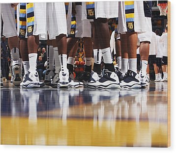 Basketball Court Reflections Wood Print by Replay Photos
