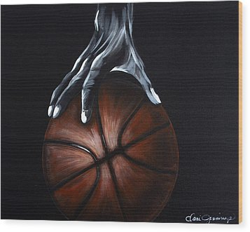 Basketball Legend Wood Print