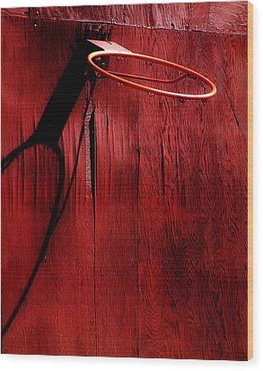 Basketball Hoop Wood Print by Lane Erickson
