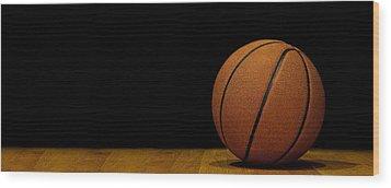 Basketball Panorama Wood Print by Andrew Soundarajan