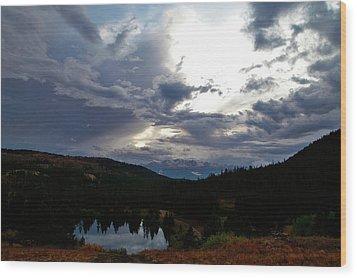 Basking In Twilight Wood Print by Jeremy Rhoades