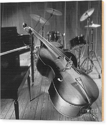 Bass Fiddle Wood Print