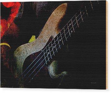 Bass Guitar Wood Print by Bob Orsillo
