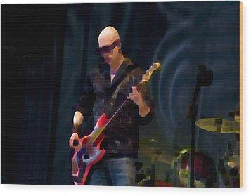 Bass  Guitar Wood Print by Tony Reddington