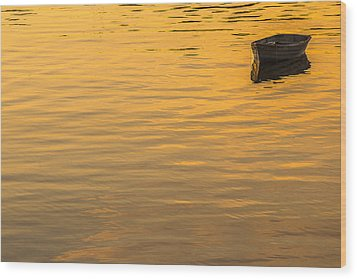 Bass Harbor Dinghy Wood Print by Joseph Rossbach