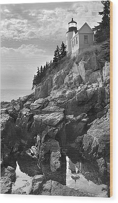 Bass Harbor Light Wood Print by Mike McGlothlen